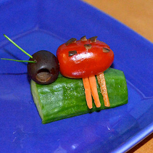 Fun Food Art with a Little Lady Bug