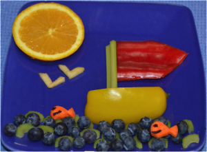Let's Go Sailing with Food Art!