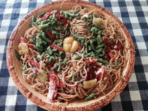 Turkey Bolognese Pasta & Veggies