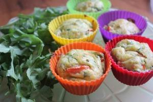 Arugula & Goat Cheese Muffins