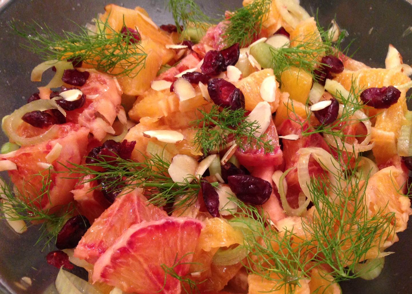 blood orange fennel salad