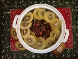 Zesty Kiwi Quinoa Holiday Stuffing