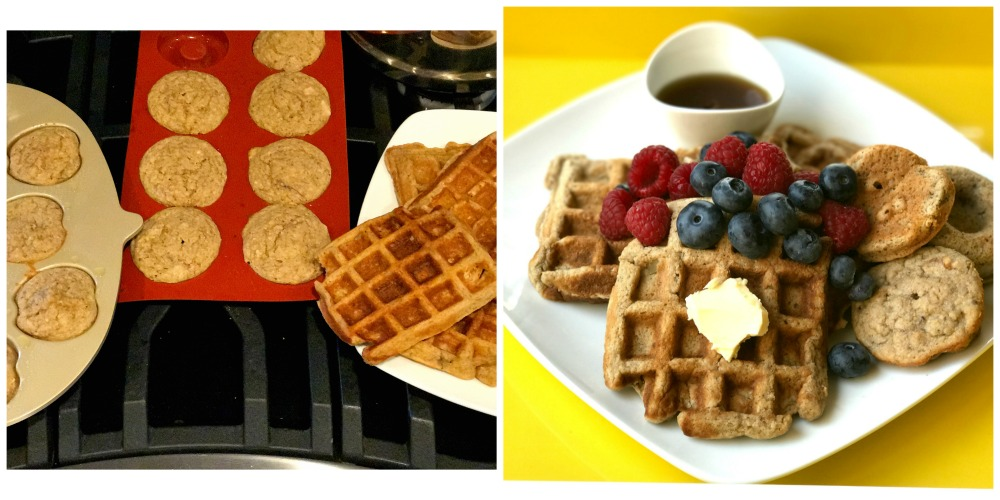 tiger nut pancakes and waffles with berries