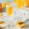 peach belini non-alcoholic holiday drink idea