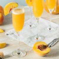 peach belini non-alcoholic holiday drink idea