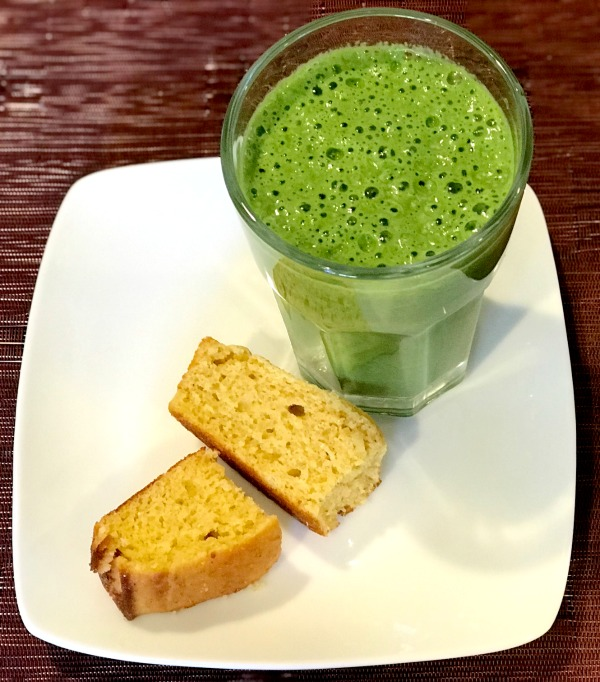 amaranth cornbread and green smoothie