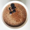 cocoa chia seed pudding with blueberries