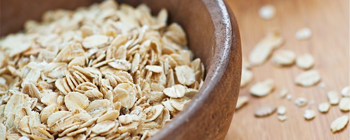 oats in a brown bowl