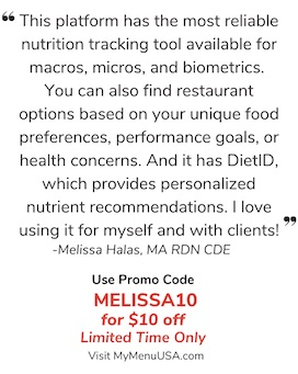 Melissas Healthy Living Coupon for myMenu